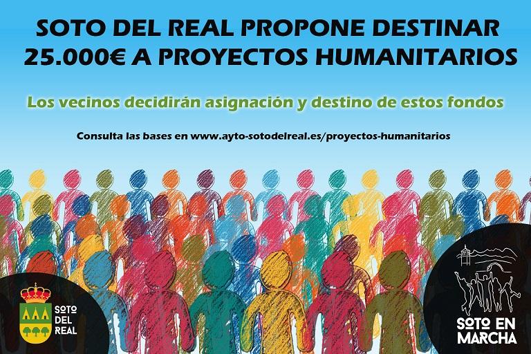 Soto del Real propone destinar 25.000€ a proyectos humanitarios